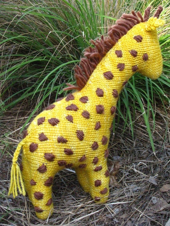 Knitting Pattern Giraffe : Giraffe Toy Knitting Pattern PDF by mamma4earth on Etsy