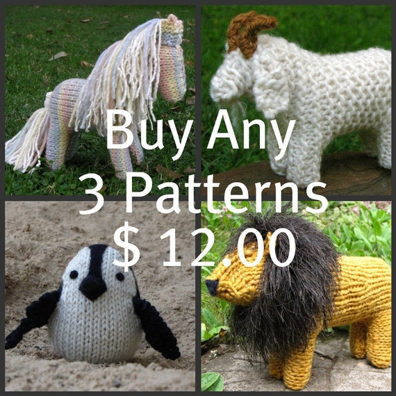 Buy Any 3 Mamma4earth Patterns for 12 Dollars, (PDF)