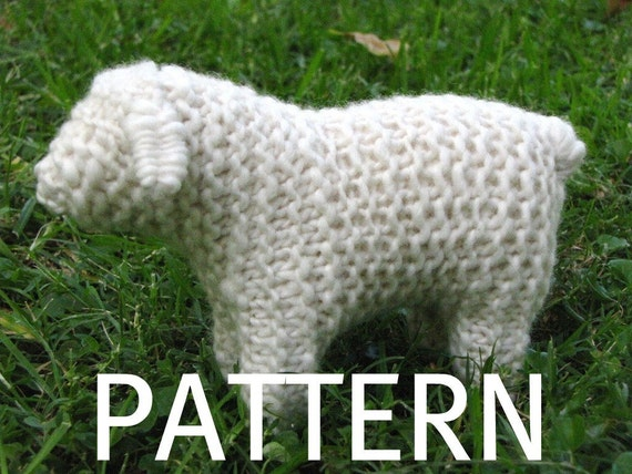 Crochet Knit Stitch Waldorf : Waldorf Toy Sheep Knitting Pattern PDF by mamma4earth on Etsy