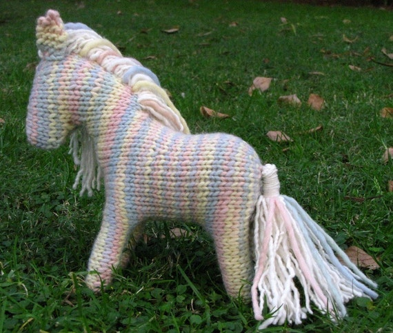 Knitting Pattern For Unicorn Toy : Shadow the Horse Knitting Pattern Waldorf Toy PDF Instant