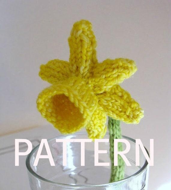 Daffodil Flower Knitting Pattern, PDF
