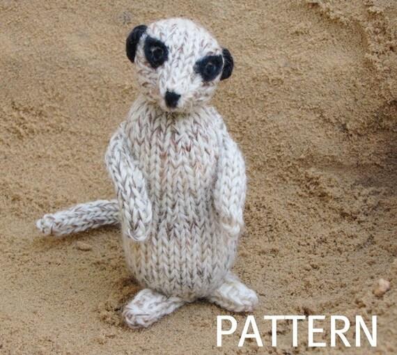 Meerkat Knitting Pattern, PDF