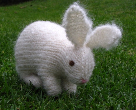 Easter Bunny Knitting Pattern : Easter Bunny Rabbit Knitting Pattern PDF