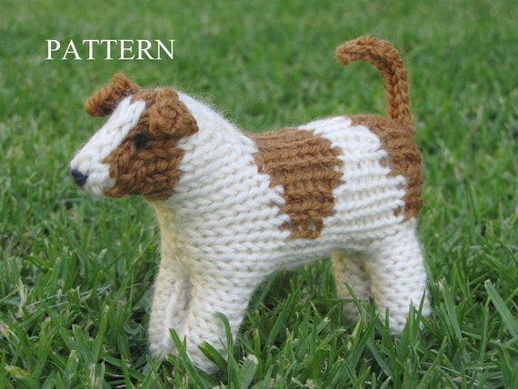 Jack Russell Dog Knitting Pattern PDF