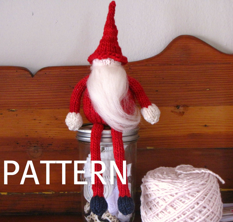 Father Christmas Santa Gnome, Elf Knitting Pattern, PDF ...