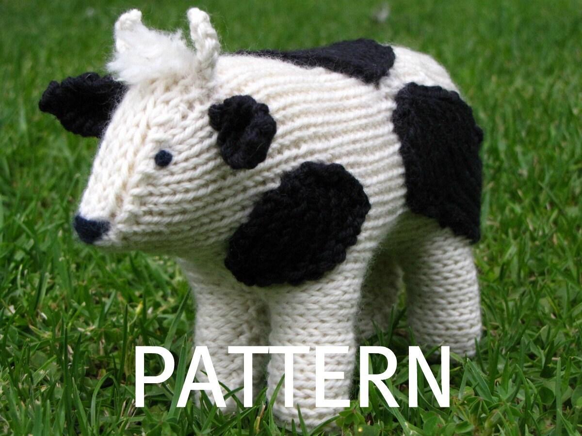 Knitting Pattern Cow Toy : Cow Knitting Pattern PDF Waldorf Toy