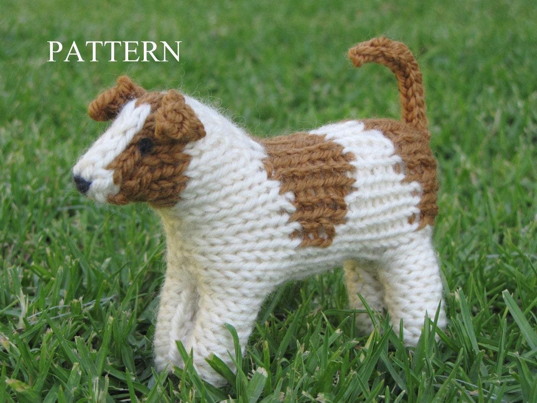 Jack Russell Dog Knitting Pattern PDF