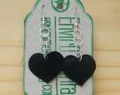 Rock Star - Recycled Record Heart Shaped Earrings