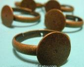 Aged Brass Ring Shanks Pack of 6
