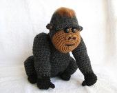 PDF Crochet Pattern BABY GORILLA