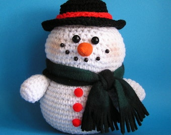 PDF Crochet pattern PUDGY SNOWMAN