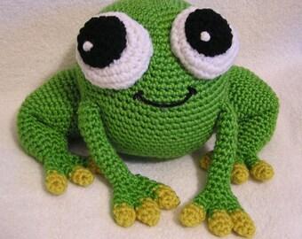 Pdf Crochet Pattern AMIGURUMI  PUDGY FROG