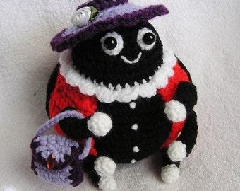 Pdf Crochet Pattern PUDGY LADY BUG