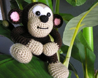 PDF Crochet Pattern BABY MONKEY