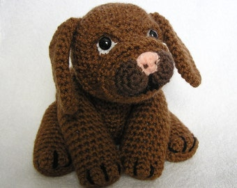 Pdf Crochet pattern LITTLE BROWN PUP (English only)