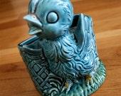 Vintage Baby Bird Ceramic Vase