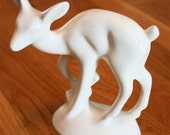 California Pottery White Deer Figurine
