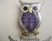 Whimsical Patterned Owl Pin
