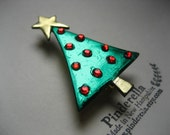 Christmas Tree Pin with ornaments and star