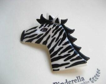 Zebra Pin Brooch