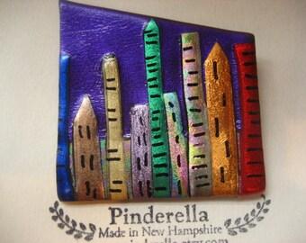 City Skyline Pin