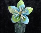 Seattle map paper flower