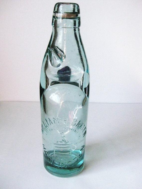 Antique Codd Bottle Haslingden Mineral Water Works William H