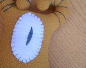 goateye - hand embroidered eco-fleece PLUSH