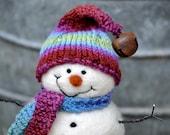 Snowman, Needle Felted wool Snowmen - Holiday decor - 89