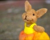 Bunny - Needle felted Rabbit - wool needle felted animals - BearCreekDesign