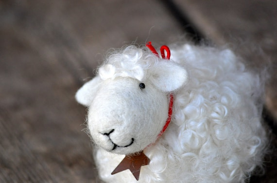 Needle Felted animal Sheep, Lamb