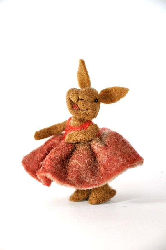 Needle felted Bunny Rabbit, needle felted animal