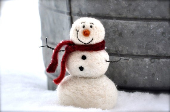 DIY Snowman Needle Felting Kit