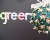 Turquoise and Gold Ornament