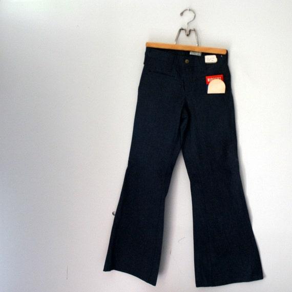 Vintage 70 S Low Rise Elephant Bell Bottoms Denim Jeans