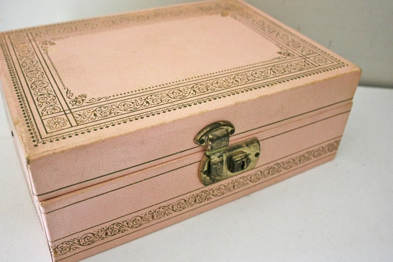 ON HOLD until 8/20 vintage 60s Worn and Lovely Bubblegum Pink Jewelry Box