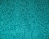 Blue Aqua Cable Baby Blanket Knitted Gift for Baby Gift for Mom FREE SHIPPING