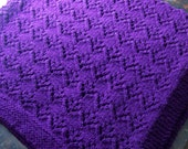 hipknitta's Regal Purple Baby Blanket for Your Little Prince or Princess FREE SHIPPING