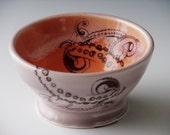 Tentacle Bowl/ wheel thrown/ handmade pottery