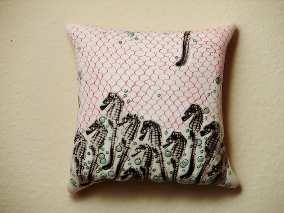Dark Seahorses, Porcelain Wall Art Tile