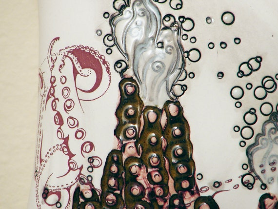 Tentacle Black Smoker Ceramic Wall Painting