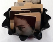 BOB DYLAN Recycled New Morning Album Cover Coasters & Warped Record