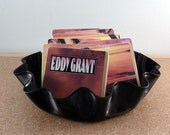 EDDY GRANT recycled Going for Broke album coasters with record bowl