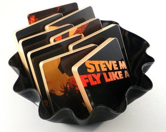 Steve Miller Band recycled Fly Like an Eagle album cover coaster set