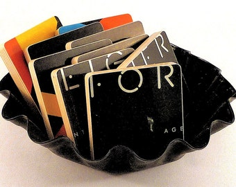 Foreigner recycled Agent Provocateur coasters with warped recod bowl
