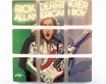 Rick Derringer recycled All American Boy album cover coasters with wacky bowl