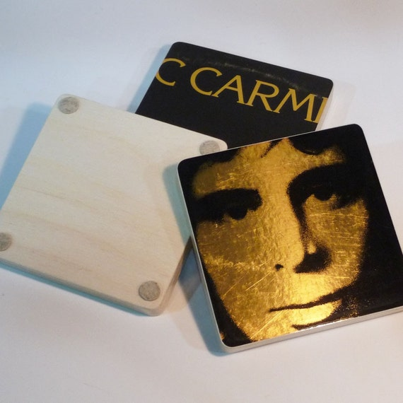 Eric Carmen recycled 1975 record album cover coasters with warped bowl