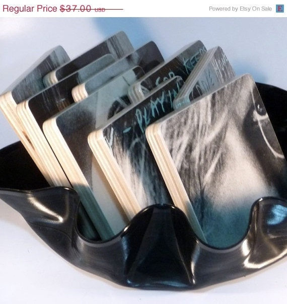 Cupid Sale Coasters with basket from EDDIE MONEY Record Album