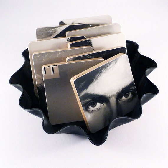 Coasters with basket from JAMES TAYLOR JT Record Album
