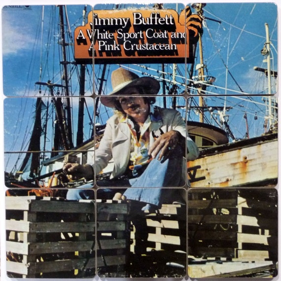 Jimmy Buffett Recycled Handmade Album Art Cover Coasters